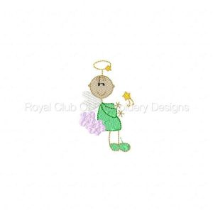 Royal Club Of Embroidery Designs - Machine Embroidery Patterns Sticky Angels Set