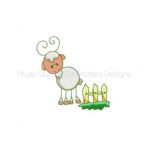 Royal Club Of Embroidery Designs - Machine Embroidery Patterns Sticky Farm Friends Set