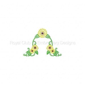 Royal Club Of Embroidery Designs - Machine Embroidery Patterns Springtime Sunflowers Set