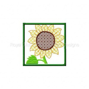 Royal Club Of Embroidery Designs - Machine Embroidery Patterns Sunflower Hanging Set