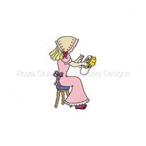 Royal Club Of Embroidery Designs - Machine Embroidery Patterns DD Sweet Bonnets Set