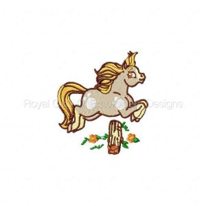 Royal Club Of Embroidery Designs - Machine Embroidery Patterns Sweet Ponies Set