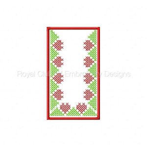 Royal Club Of Embroidery Designs - Machine Embroidery Patterns Cross Stitch Tissue Box Cover Set
