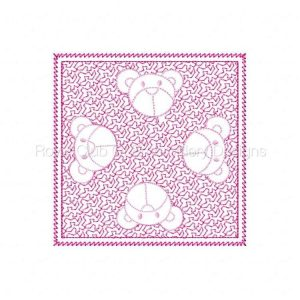 Royal Club Of Embroidery Designs - Machine Embroidery Patterns Trapunto Baby Blanket Set