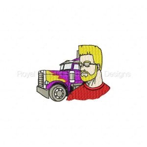 Royal Club Of Embroidery Designs - Machine Embroidery Patterns Truck Driver Set