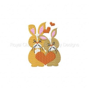Royal Club Of Embroidery Designs - Machine Embroidery Patterns Valentine Bunnies Set