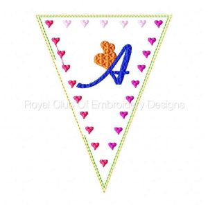 Royal Club Of Embroidery Designs - Machine Embroidery Patterns Valentine Banner Set