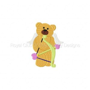 Royal Club Of Embroidery Designs - Machine Embroidery Patterns Valentine Bears Set
