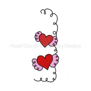 Royal Club Of Embroidery Designs - Machine Embroidery Patterns Valentine Borders Set