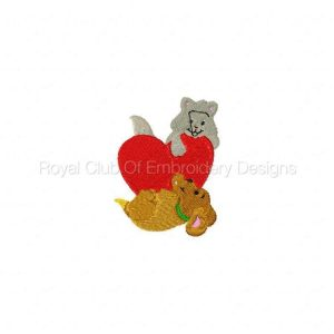 Royal Club Of Embroidery Designs - Machine Embroidery Patterns Valentine Critters Set
