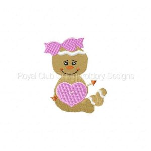 Royal Club Of Embroidery Designs - Machine Embroidery Patterns Valentine Gingers Set