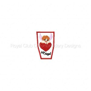 Royal Club Of Embroidery Designs - Machine Embroidery Patterns Valentine Pencil Toppers Set