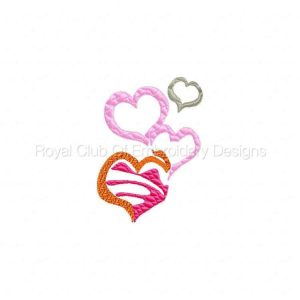 Royal Club Of Embroidery Designs - Machine Embroidery Patterns Valentine Colors Set