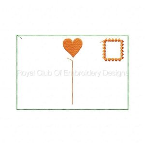 Royal Club Of Embroidery Designs - Machine Embroidery Patterns Valentines Day Post Cards Set
