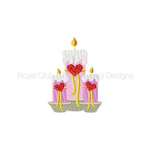 Royal Club Of Embroidery Designs - Machine Embroidery Patterns Valentine Treats Set