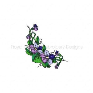 Royal Club Of Embroidery Designs - Machine Embroidery Patterns DD Violets and Corners Set