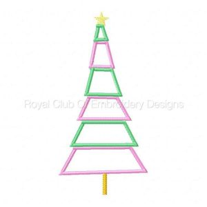 Royal Club Of Embroidery Designs - Machine Embroidery Patterns Whimsical Holiday Trees Set