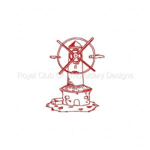 Royal Club Of Embroidery Designs - Machine Embroidery Patterns Whimsical Windmills Set