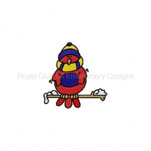 Royal Club Of Embroidery Designs - Machine Embroidery Patterns Winter Birds Set