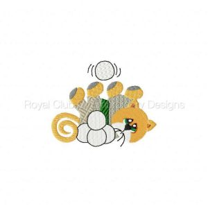 Royal Club Of Embroidery Designs - Machine Embroidery Patterns Winter Kitties Set