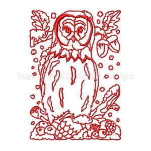 Royal Club Of Embroidery Designs - Machine Embroidery Patterns Winter Owls Set