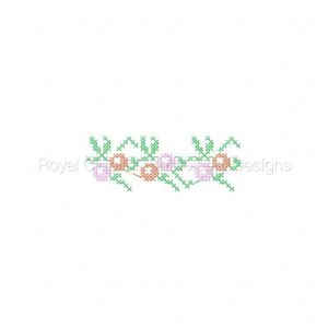 Royal Club Of Embroidery Designs - Machine Embroidery Patterns Easter Cross Stitch Borders and Corners Set
