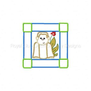 Royal Club Of Embroidery Designs - Machine Embroidery Patterns Applique Zoo Blocks Set
