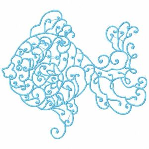 Royal Club Of Embroidery Designs - Machine Embroidery Patterns Decorative Fish Set