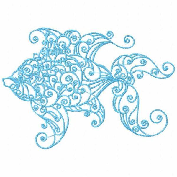 Decorative Swirly Fish