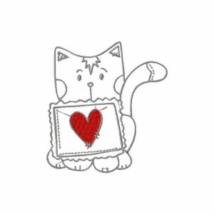 Royal Club Of Embroidery Designs - Machine Embroidery Patterns Sewing Kitty Set